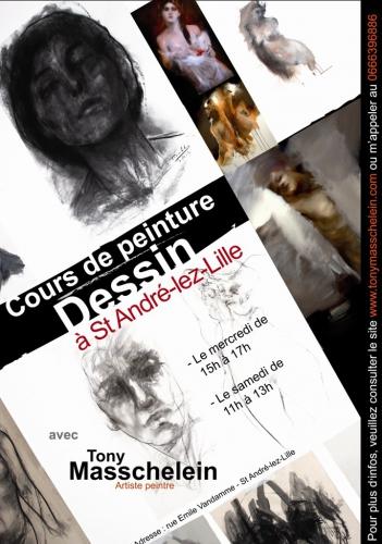 cours de peinture, Lille, Saint André Lez Lille,Tony Masschelein